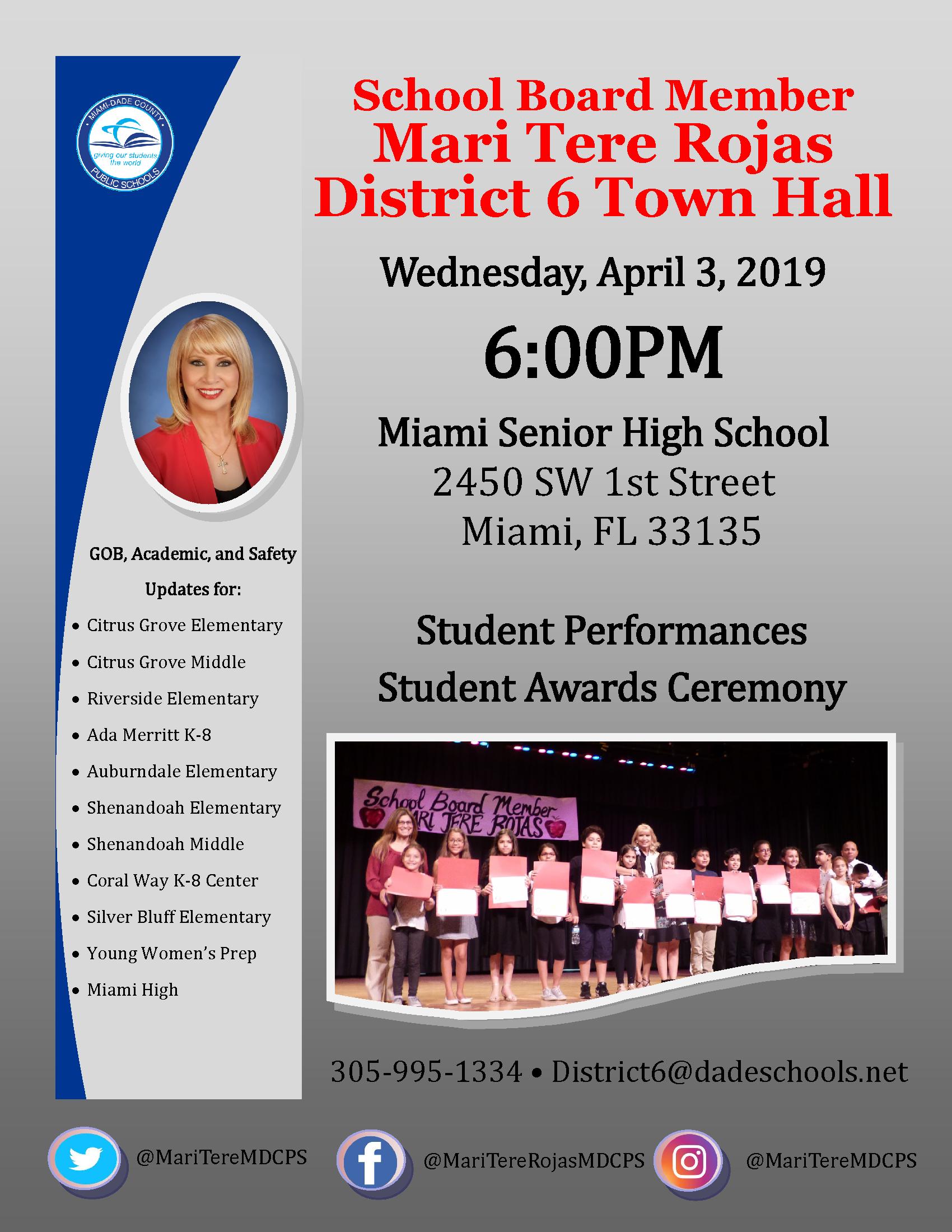 District 6 Town Hall @ Miami Senior High School   Miami   Florida   United States