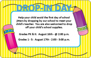 Drop-In Day - Grades 1-5
